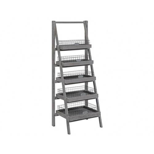 Hastings 5 Tier Charcoal Grey Angled Etagere